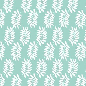 palms fabric // palm leaf tropical leaves fabric tropical fabric - blue