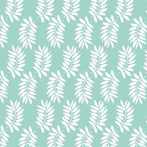 palms fabric // palm leaf tropical leaves fabric tropical fabric - blue
