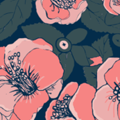 Coral Floral / Camellia Garden