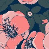 Coral Flowers / Camellia floral