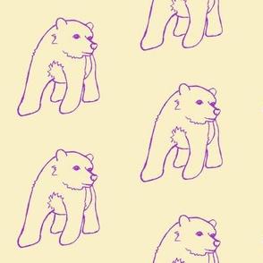 Purple Bear Outline