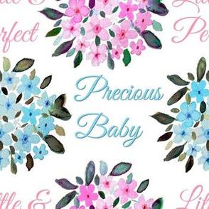Watercolor floral nursery quote