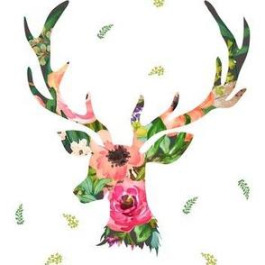 """7"""" Deer Floral"""