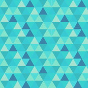 Blue & teal triangle Whole cloth