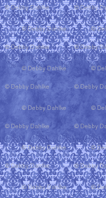 Blue Damask & Stripes Sleeves