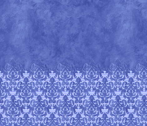 Blue Damask & Stripes Sleeves  fabric by piper_&_paige on Spoonflower - custom fabric