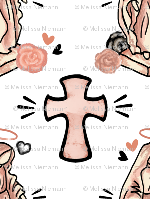 Rose Mary and Cross