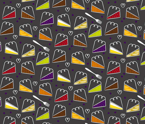 9 Kinds of Pie fabric by lellobird on Spoonflower - custom fabric