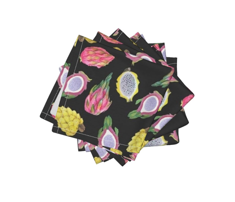 Dragon  Fruit summer //  watercolor pitaya