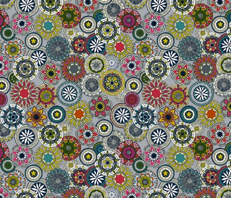 mandala cirque festival silver small fabric by scrummy on Spoonflower - custom fabric