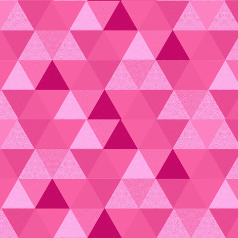 Geometric Pink Triangle Hexagon Wholecloth Pink fabric by magentarosedesigns on Spoonflower - custom fabric
