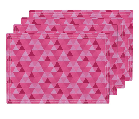 Geometric pink Triangle Hexagon Wholecloth Pink
