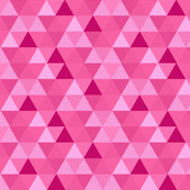 spring pink Triangle Hexagon Wholecloth Pink