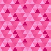 Triangle Hexagon Wholecloth Pink