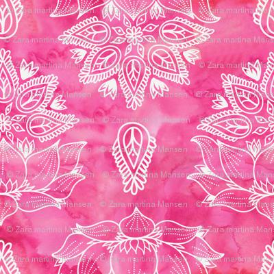 Pink_Lotus_Watercolor_Flowers