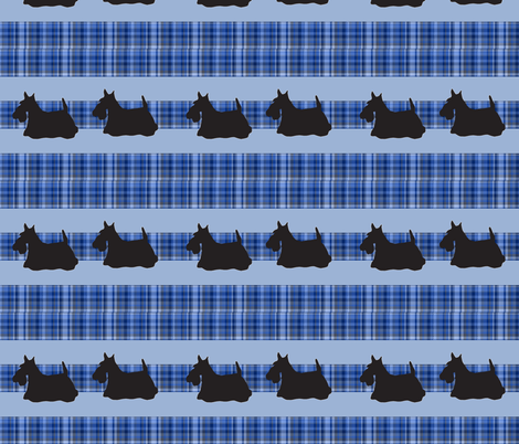 scotty_plaid_pattern fabric by dogdaze_ on Spoonflower - custom fabric