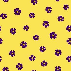Purple Ditsy Flowers