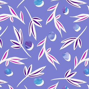 Purple_polka_dot_scattered_leaves