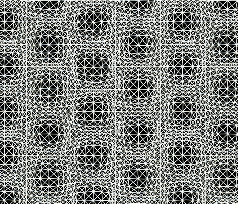 Optical bubbles black white fabric by zandloopster on Spoonflower - custom fabric