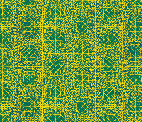 Optical bubbles green fabric by zandloopster on Spoonflower - custom fabric