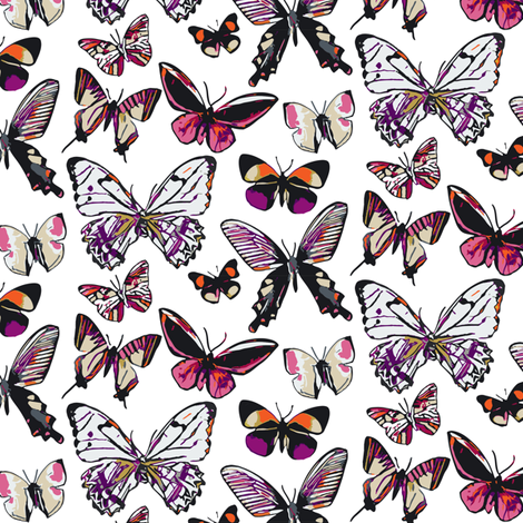 Butterfly Large Scale fabric by fiddlehead_creations on Spoonflower - custom fabric