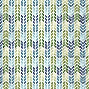 Blue and green Herringbone