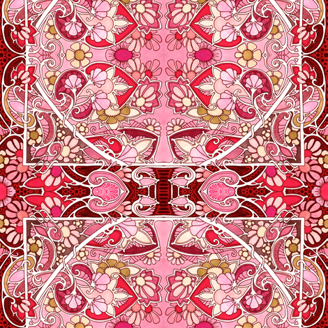 Busy Red World fabric by edsel2084 on Spoonflower - custom fabric