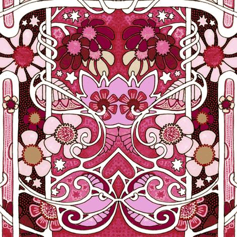 Paisley Leaf Garden On Mars Fabric By Edsel2084 On Spoonflower   Custom  Fabric