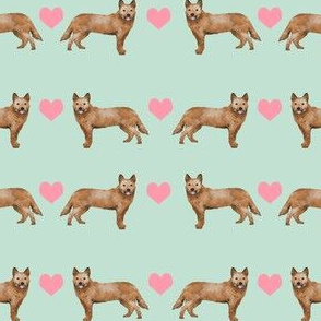 Australian Cattle Dog love hearts  red heeler light_mint