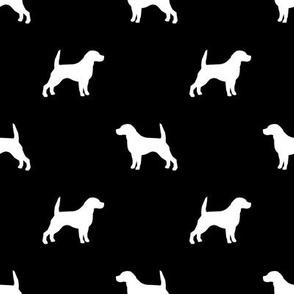 Beagle Silhouette basic dog breed fabric black