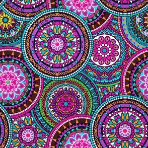 Bright Bohemian Boho Hippy Chic Pattern