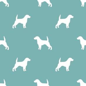 Beagle Silhouette basic dog breed fabric gulf