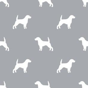Beagle Silhouette basic dog breed fabric quarry