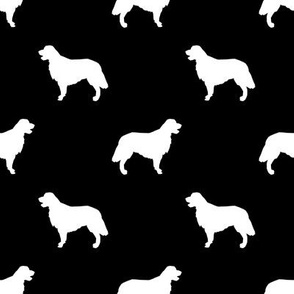 Golden Retriever silhouette dog breed fabric black