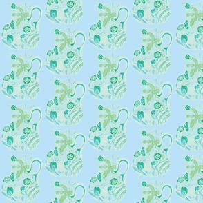 Carmine Pastel Pitchers Turquoise Aqua Green Powder Blue