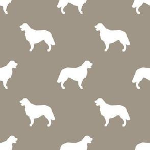 Golden Retriever silhouette dog breed fabric medium brown