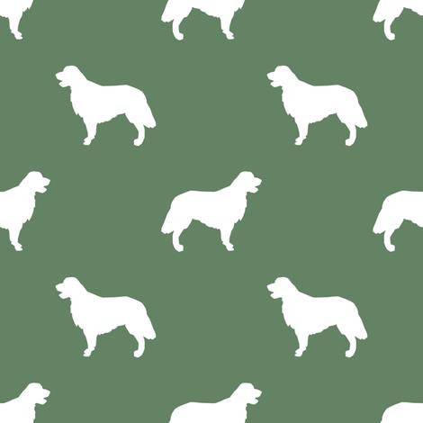 Golden Retriever silhouette dog breed fabric  medium green fabric by petfriendly on Spoonflower - custom fabric