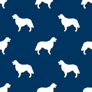 Golden Retriever silhouette dog breed fabric navy