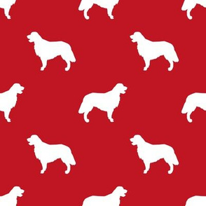 Golden Retriever silhouette dog breed fabric red