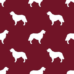 Golden Retriever silhouette dog breed fabric ruby