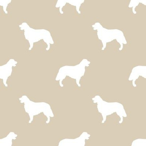 Golden Retriever silhouette dog breed fabric sand