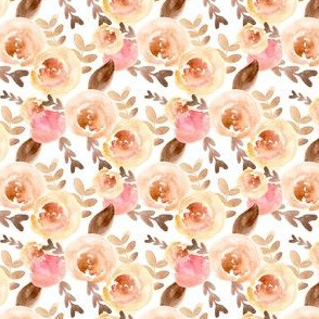 soft pink and peach watercolor floral