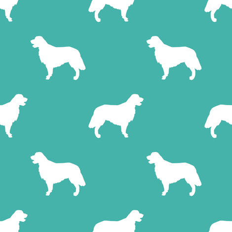 Golden Retriever silhouette dog breed fabric turquoise fabric by petfriendly on Spoonflower - custom fabric