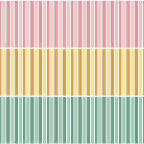 piped stripes x3 : spring colours
