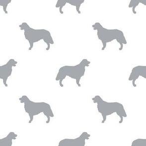 Golden Retriever silhouette dog breed fabric white grey
