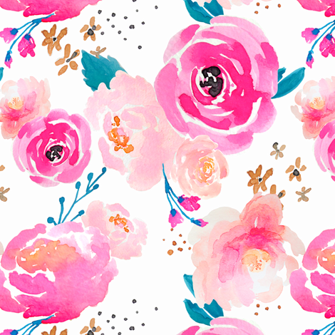 Indy bloom Design Punchy Florals C fabric by indybloomdesign on Spoonflower - custom fabric
