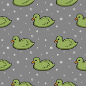 Ducks and bubbles green