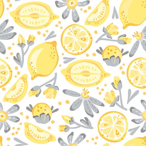 Cheerful - Lemons fabric by malibu_creative on Spoonflower - custom fabric