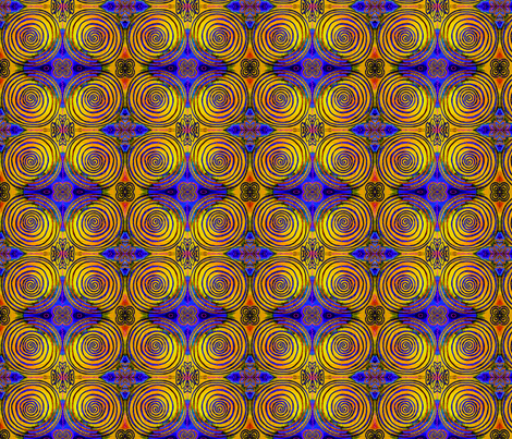 Celtic Pixel Tree Ring Mandala fabric by ciswee on Spoonflower - custom fabric
