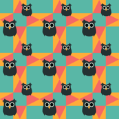 owl quilt funky
